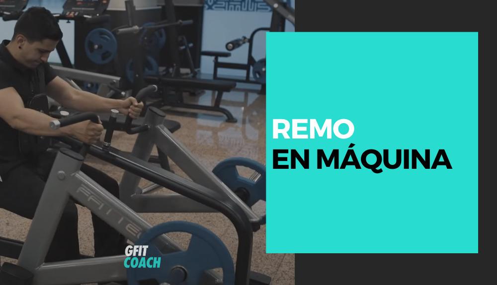 Remo en máquina