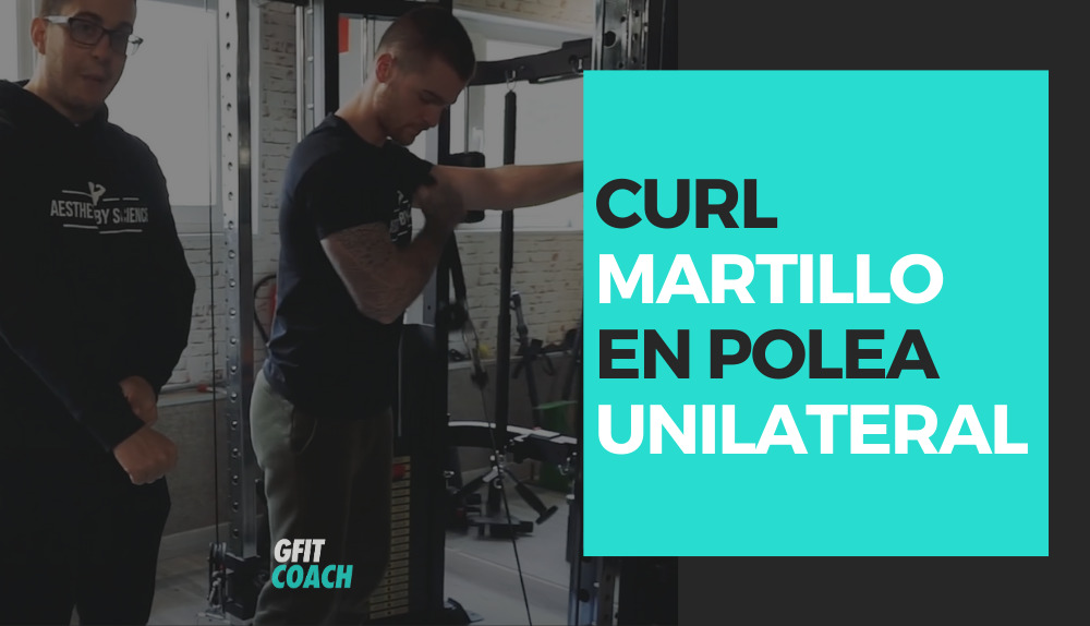 Curl martillo en polea unilateral